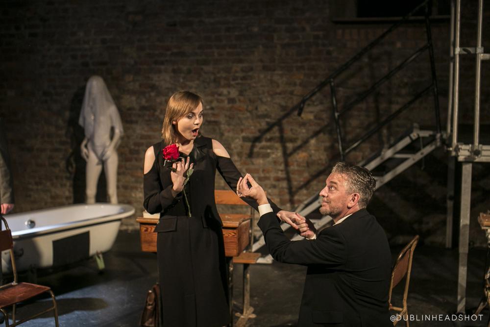 "As Frau Kurten in ""Normal"", with Michael O'Flaherty Photo: Rafal Kostrzewa"